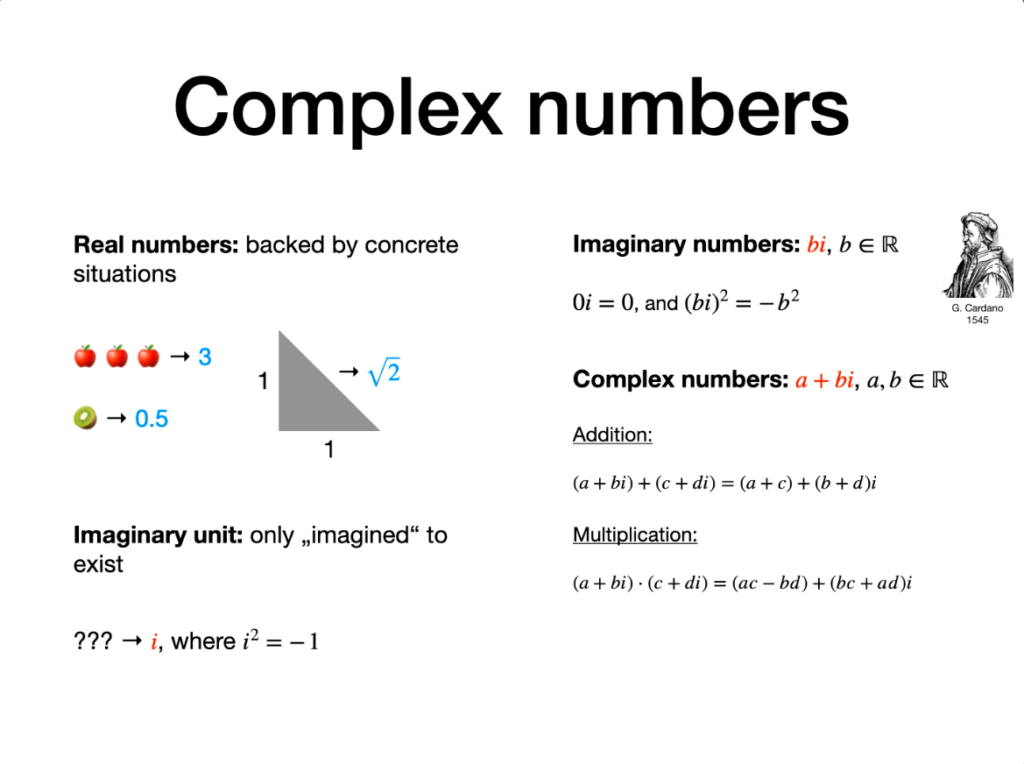 Vectors and complex numbers